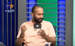 mPowerO Sales Head Mr. Santosh Kumar at ETV Pratidwani Program
